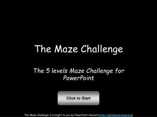 The Maze Challenge