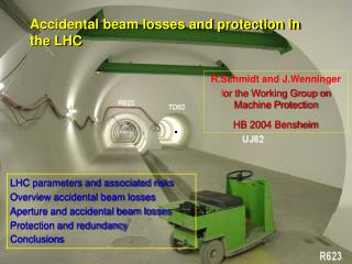 Accidental beam losses and protection in the LHC