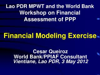 Financial Modeling Exercise