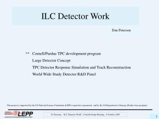 ILC Detector Work