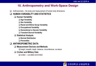 10. Anthropometry and Work-Space Design
