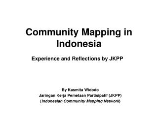 Community Mapping in Indonesia