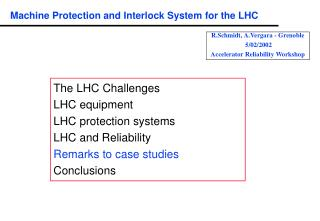 Machine Protection and Interlock System for the LHC