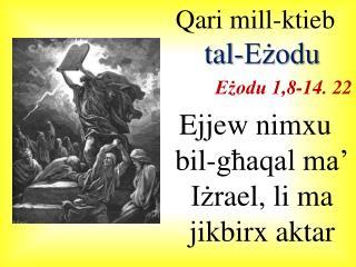 Qari mill-ktieb  tal-Eżodu Eżodu 1,8-14. 22