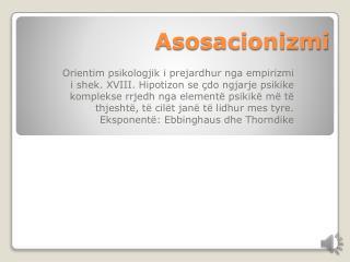 Asosacionizmi
