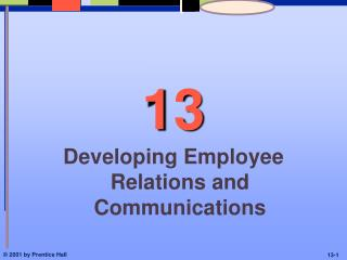 Developing Employee Relations and Communications