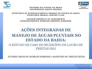 AUTORES: RENAVAN ANDRADE SOBRINHO e RAIMUNDO DE  FREITAS NEVES