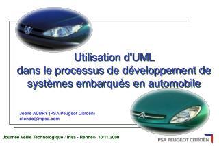Joëlle AUBRY (PSA Peugeot Citroën) otondo@mpsa