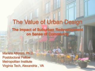 The Value of Urban Design