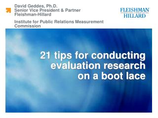 21 tips for conducting evaluation research  on a boot lace