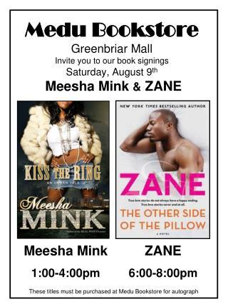 Meesha Mink 1:00-4:00pm