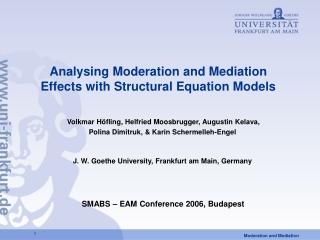 Moderation  Mediation