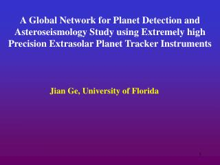 Jian Ge, University of Florida