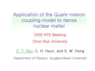 Department of Physics, Sungkyunkwan University