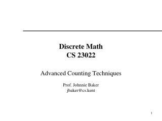 Discrete Math CS 23022