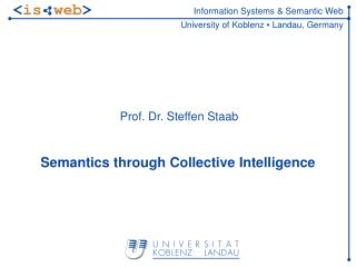 Semantics through Collective Intelligence