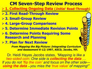 CM Seven-Step Review Process