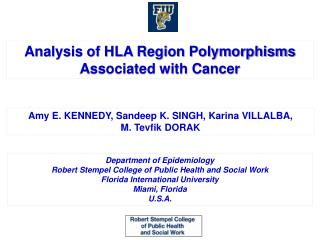 Analysis of HLA Region Polymorphisms Associated with Cancer