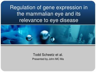 Regulation of gene expression in the mammalian eye and its relevance to eye disease