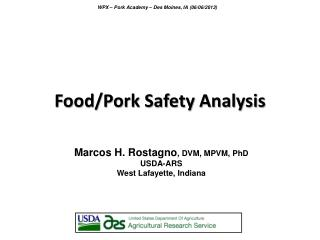 Food/Pork Safety Analysis