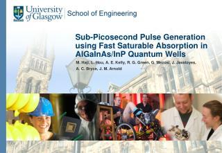 Sub-Picosecond Pulse Generation using Fast Saturable Absorption in AlGaInAs/InP Quantum Wells