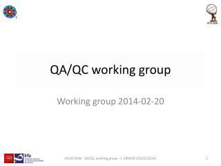 QA/QC working group