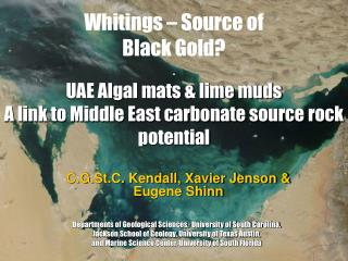 Whitings – Source of Black Gold?