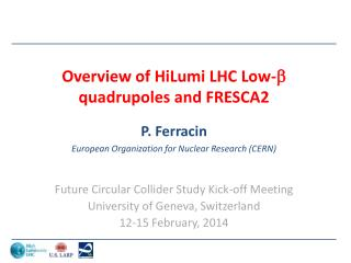 Overview of HiLumi LHC Low-  quadrupoles and  FRESCA2