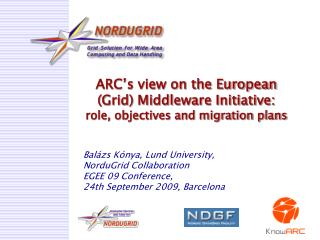 ARC's view on the European (Grid) Middleware Initiative:  role, objectives and migration plans