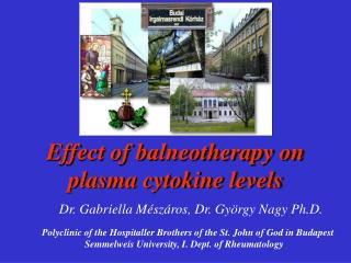 Effect of balneotherapy on plasma cytokine levels