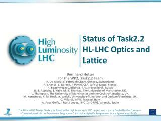 Status of Task2.2  HL-LHC Optics and Lattice