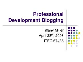 Professional Development Blogging