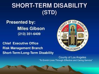 SHORT-TERM DISABILITY STD