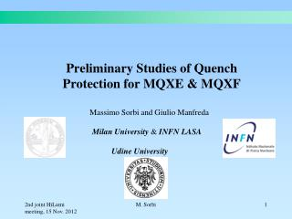 Preliminary Studies of Quench Protection for MQXE & MQXF