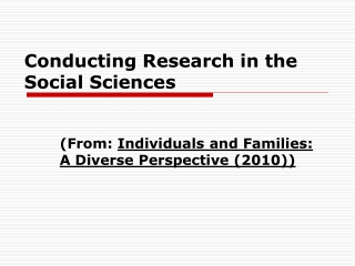 Quantitative Methods For Social Sciences