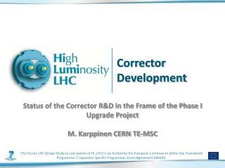 Corrector Development