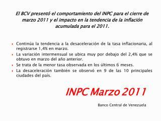 INPC Marzo 2011
