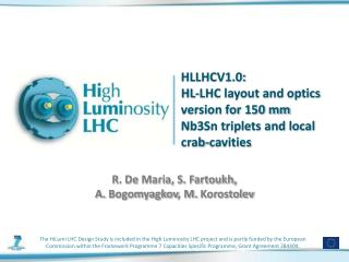HLLHCV1.0: HL-LHC layout and optics version for 150 mm Nb3Sn triplets and local crab-cavities