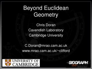 Beyond Euclidean  Geometry