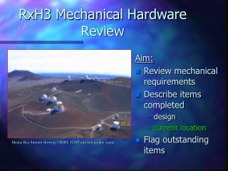RxH3 Mechanical Hardware Review