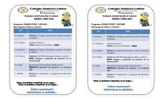 TEMARIO COMPUTACIÓN 5º GRADO               MARZO / ABRIL 2014 Programa: POWER  POINT- CATCHER