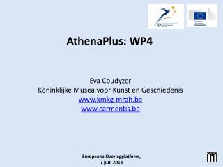 AthenaPlus: WP4