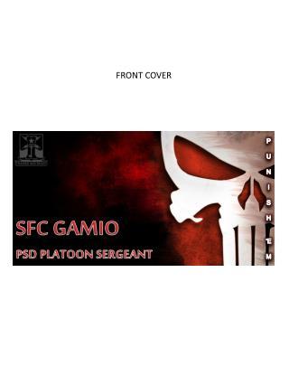 SFC GAMIO PSD PLATOON SERGEANT