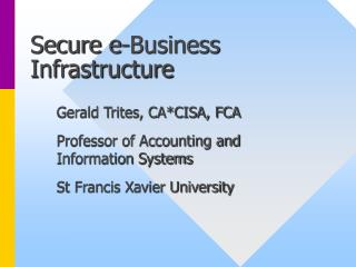 Secure e-Business Infrastructure