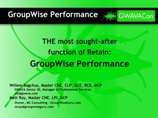 GroupWise Performance