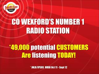 CO WEXFORD'S NUMBER 1 RADIO STATION