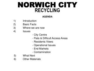 NORWICH CITY RECYCLING