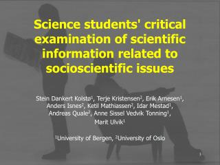 Science students critical examination of scientific information related to socioscientific issues