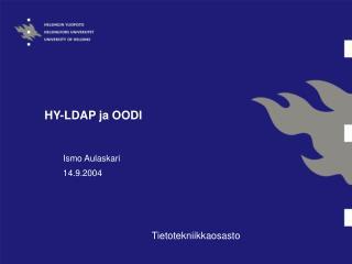 HY-LDAP ja OODI