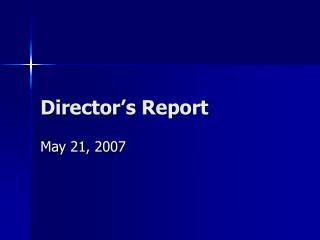 Director's Report